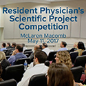2017 Resident Physician's Scientific Project Competition Results