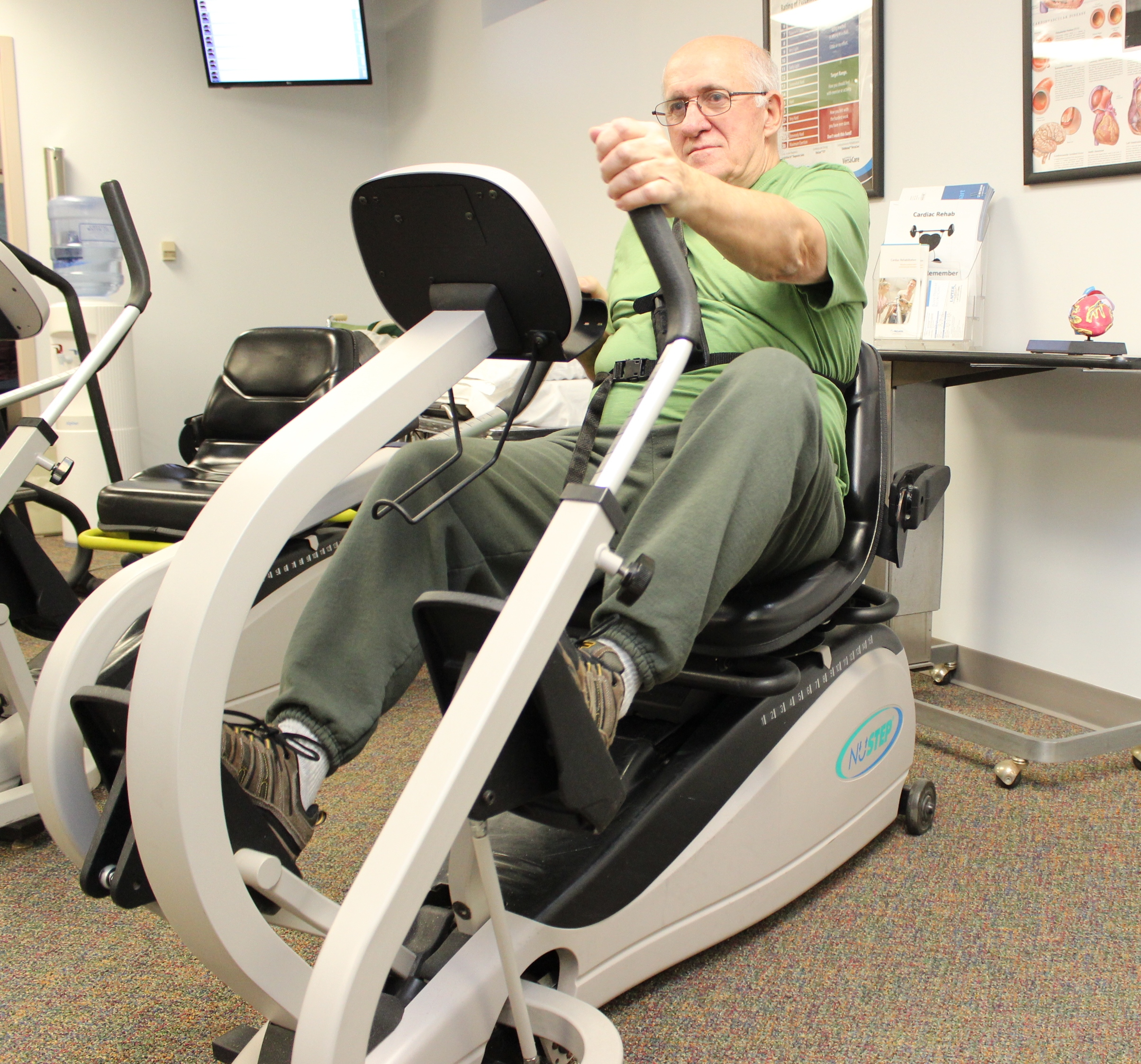 Mike's continued recovery is cardiac rehabilitation