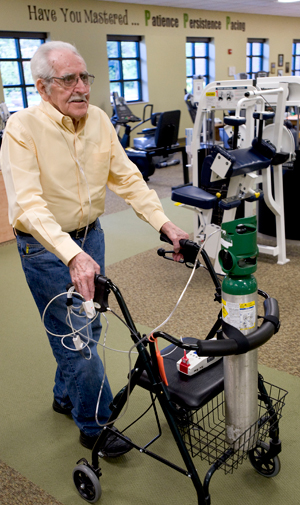 patient at pulmonary rehab