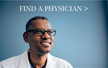 Find A Physician button ad