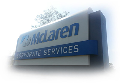 mclaren health care sign
