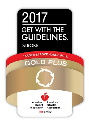 Get With The Guidelines-Stroke Gold Plus Quality Achievement Award  With Target: Stroke Honor Roll