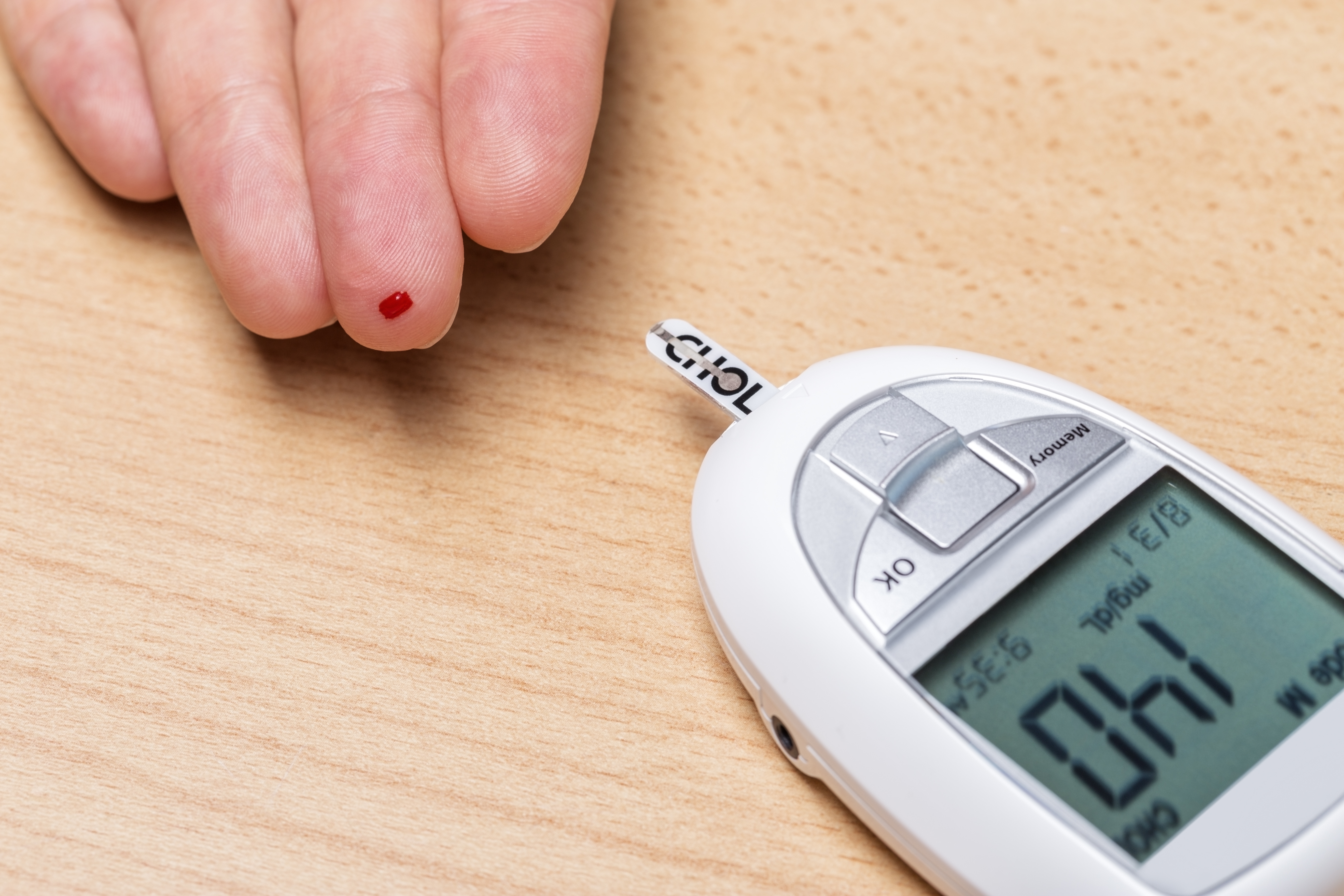 blood test for measuring cholesterol and insulin