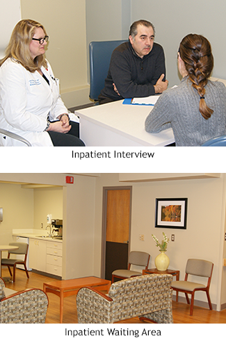 admission interview and waiting area
