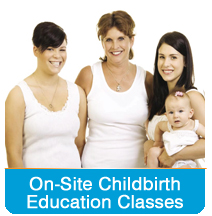On-site childbirth education classes