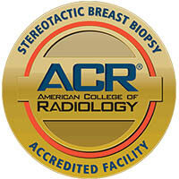 Stereotactic breast biopsy accreditation logo